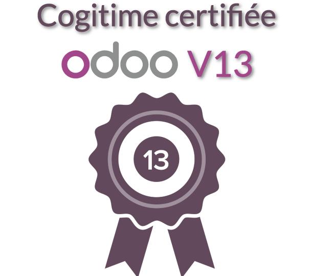 Cogitime certifiée Odoo V13